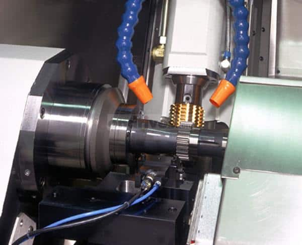 Internal shot of a Gleason P90 machine gear cutting
