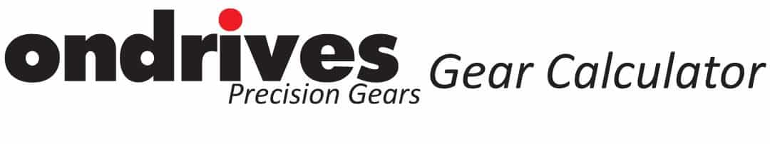 Ondrives Logo Precision Gears Gear Calculator 2020-01